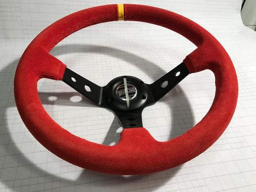 volante deportivo tuning racing sparco gamuza roja vsr3a-6