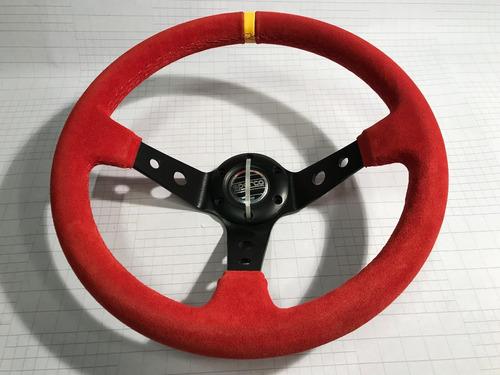 volante deportivo tuning racing sparco gamuza roja vsr3a-8
