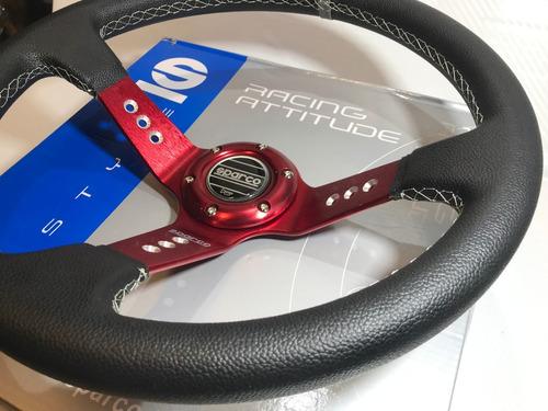 volante deportivo tuning racing sparco modelo rojo sn9-20