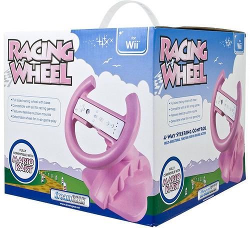 volante wii dreamgear nintendo wii racing wheel (pink)