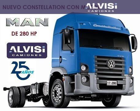 volkswagen 17-280 constellation 4x2 motor man 280 hp + iva