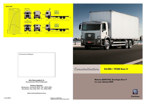 volkswagen 24-280 constellation con furgon semi termico