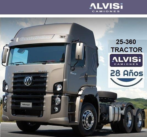 volkswagen 25-360 constellation tractor 6x2 360hp a/a + iva