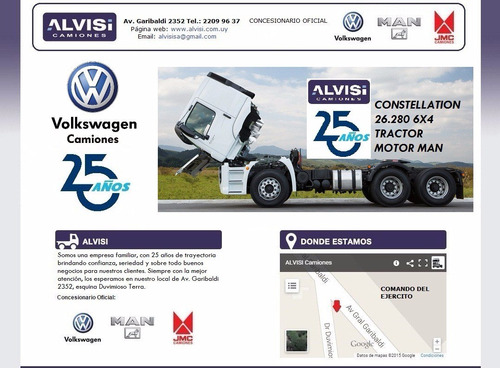 volkswagen constellation tractor 26.280 6x4 + iva