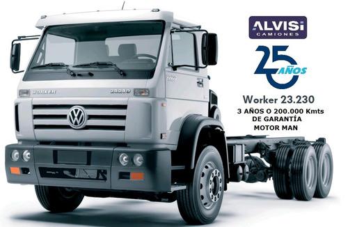 volkswagen worker doble eje 23.230 motor man 230 hp a b s 0k