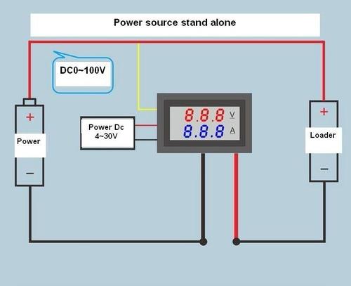voltimetro amperimetro 0v a 100v  10a dc  arduino medidor