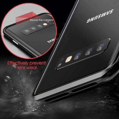 vsmano galaxy s10e lite magnet case, ultra slim shockproof m