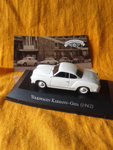 vw  karmann ghia año 1962 . coleccion.  escala 1/43.