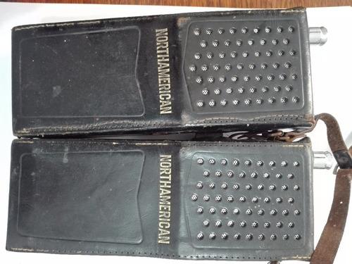 walkie talkie northamerican estuche de cuero-funcionando