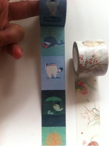 washi tape grossas com estampas lindas -   3cm fita decotape