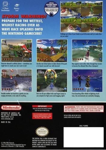wave race blue storm gamecube gc wii completo + envio gratis