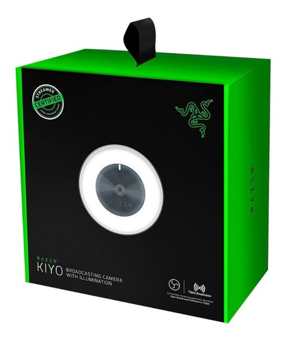 webcam razer kiyo ring light video 1080p 4mp microfono
