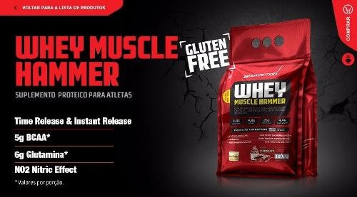 whey muscle hammer isolado x 2. total 3.6kg, + shaker