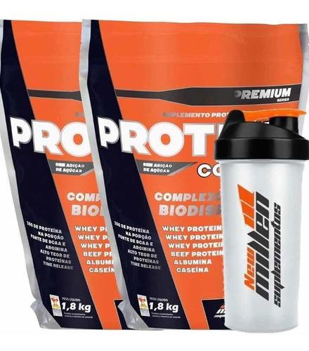 whey protein complex 2un 3,6kg + shaker de regalo