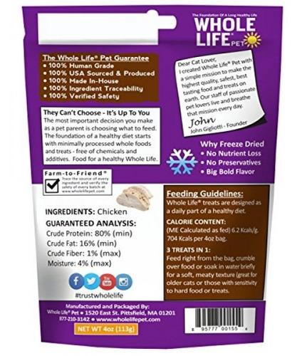 whole life pet just one-single ingredient congelados seca