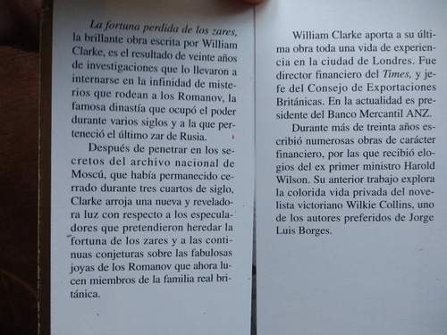 william clarke - la fortuna perdida de los zares