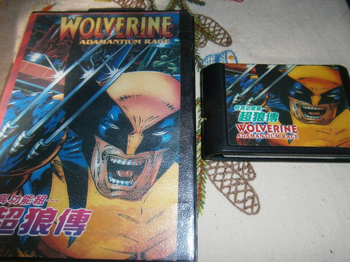 wolverine adamiantum rage en caja sega megadrive o genesis