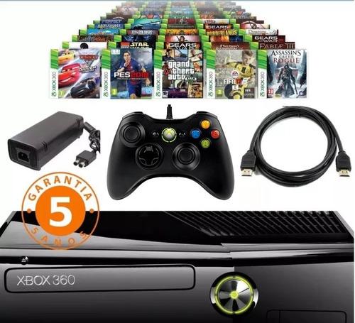 xbox 360+1 control+3800 juegos+5 a elección+5 años garantía