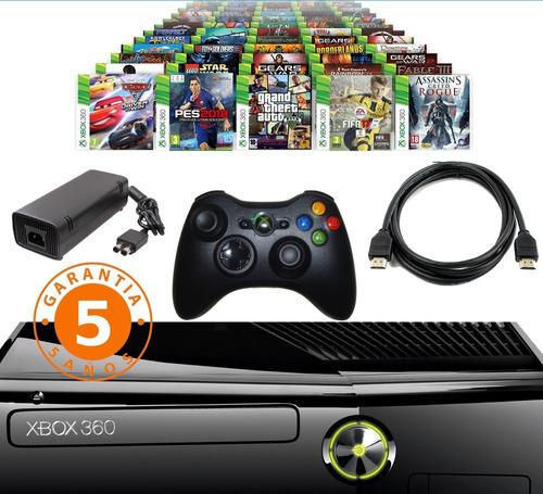 xbox 360 con disco duro 250gb  + 3800 juegos + 5 a eleccion