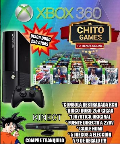xbox 360 con disco duro juegos