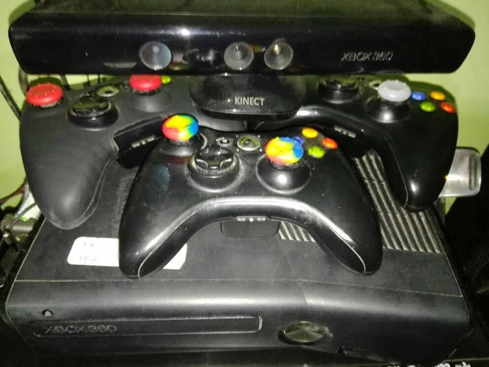Xbox 360 Destrabada Rgh 3 Controles Kinect 60 Juegos 9 000