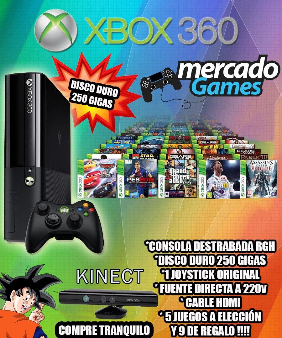 Xbox 360 Kinect Con Disco Duro Y Varios Regalos Juegos U S 399 00