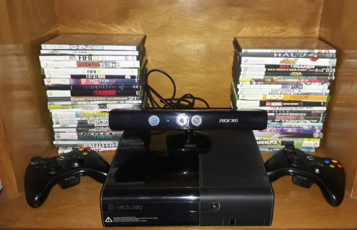 Xbox 360 Rgh Kinect 2 Controles 50 Juegos De Regalo 9 000