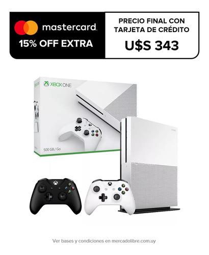 xbox one s 500gb refurbished + 2 joysticks, macrotec
