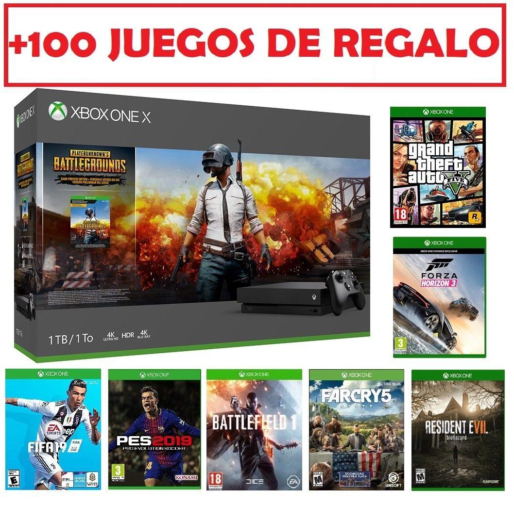 Xbox One X 1 Tera Nuevas 2018 En Caja Con Juegos De Regalo U S 849