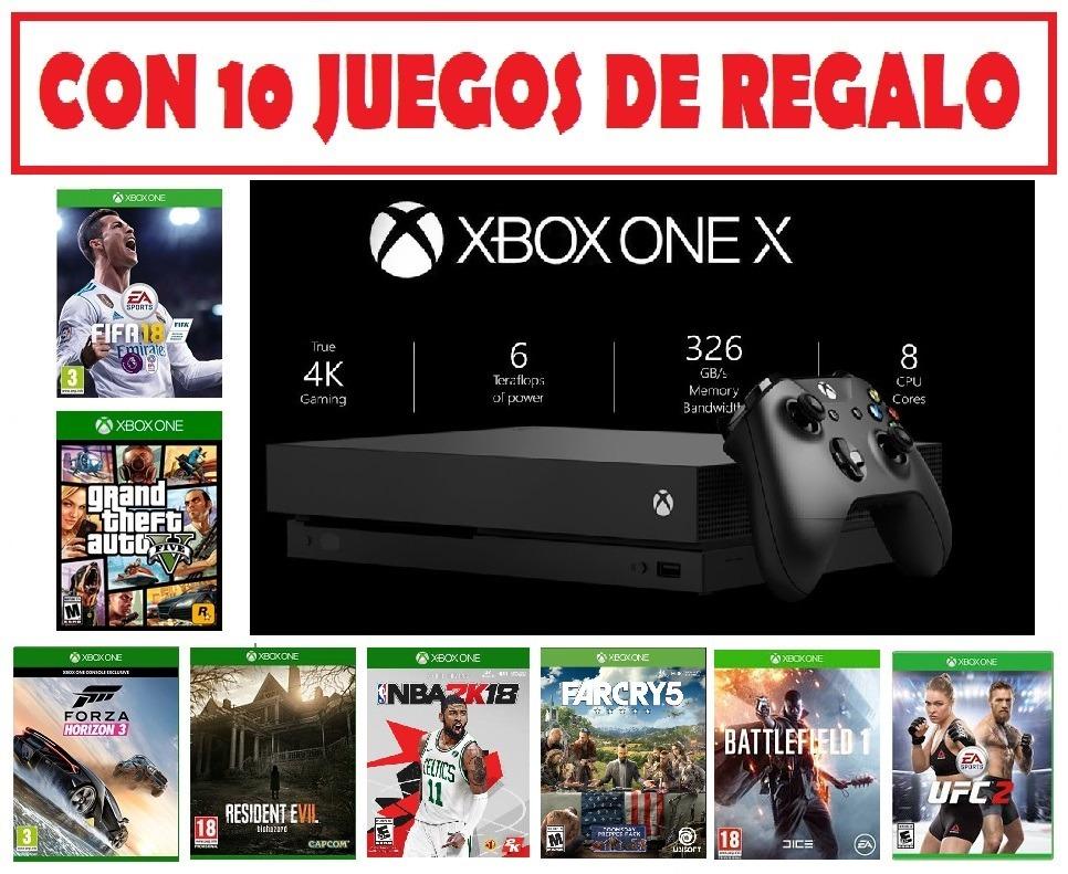 Xbox One X Nuevas 1 Tera En Caja Y Juegos De Regalo U S 900 00 En