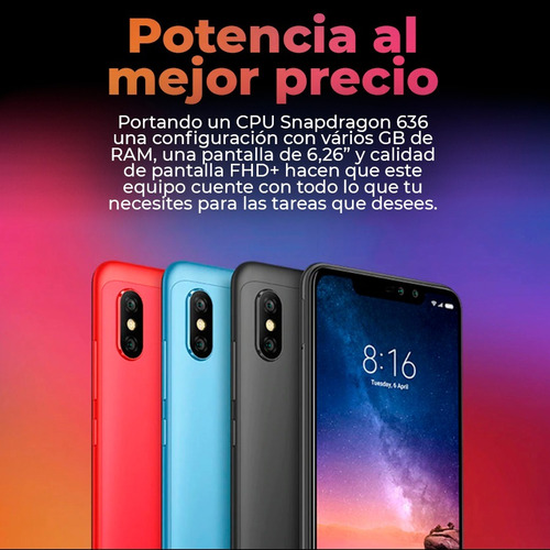 xiaomi note 6 pro octa core 64gb/4gb + smartwatch - bde