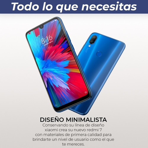 xiaomi note redmi 7 nuevo modelo 32gb/3gb + funda -black dog