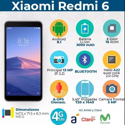 xiaomi redmi 6a 16gb + smartwatch - black dog