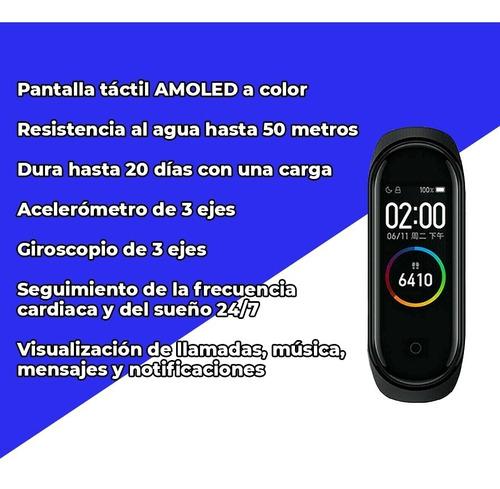 xiaomi smartband mi band 4 ideal para agua y fitness + auris
