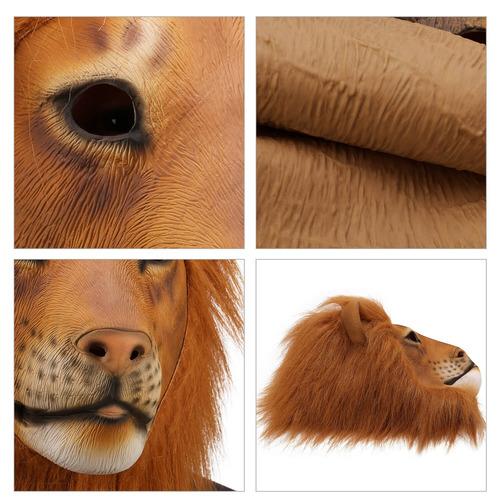 ylovetoys máscara de látex de cabeza de caballo, disfraz