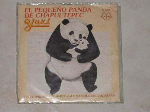 yuri pequeño panda disco 45 rpm acetato vinil 7 pulgadas