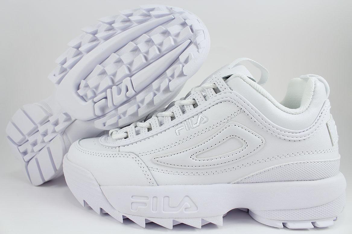 Zapatillas Fila Disruptor Ii Premium Triple White Dama