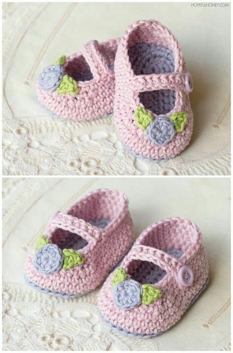 Zapatitos De.bebe En Crochet - $ 150,00 en Mercado Libre