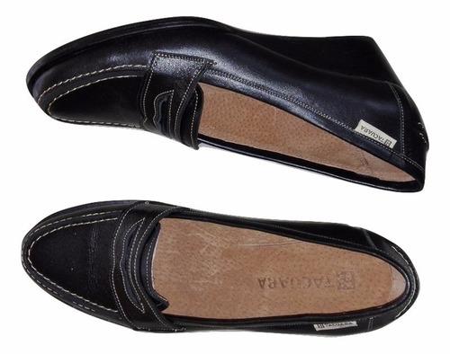 zapato dama tacuara cuero.taco corrido
