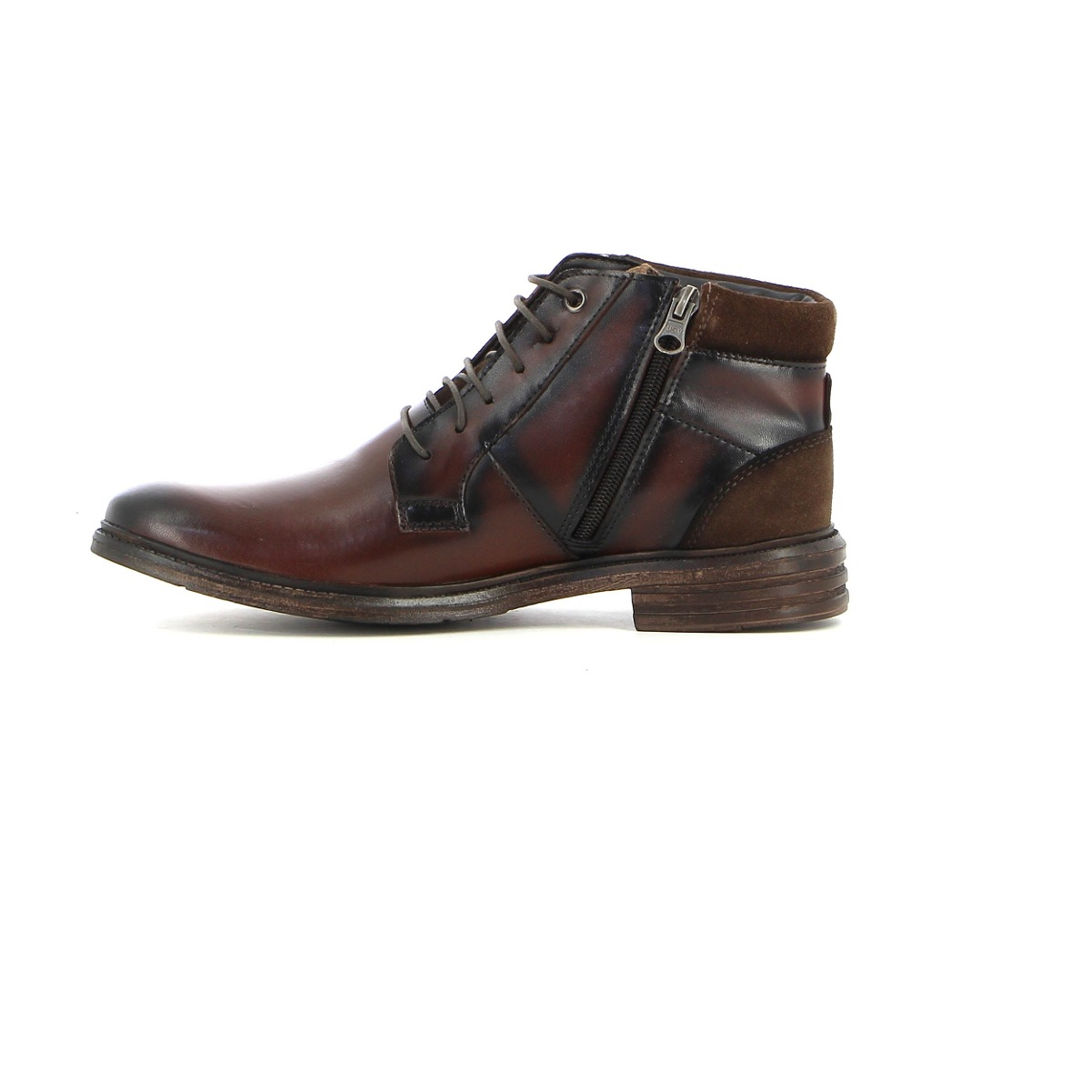 5df89e2e06e zapato formal hombre valecci botin marrón oscuro. Cargando zoom.