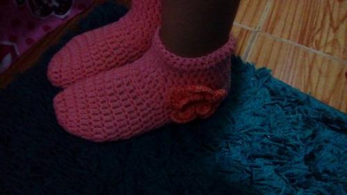 zapatones en crochet.