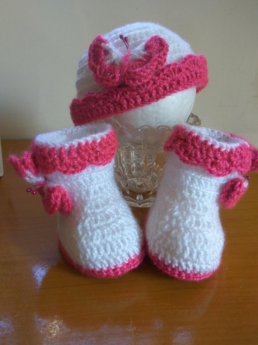 zapatos botitas bebe gorro lana bebe crochet conjunto. Cargando zoom. 199683c8a88
