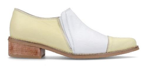 zapatos de cuero amarillo y blanco - antoine - patzu shoes