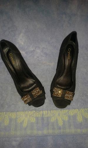 zapatos de fiesta negro elegante 7 cm de alto