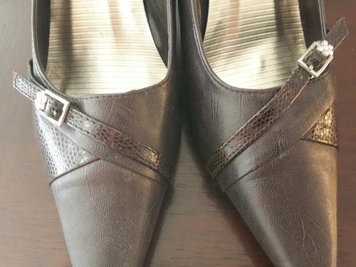 zapatos de vestir nuevos taco corrido con hermosos detalles