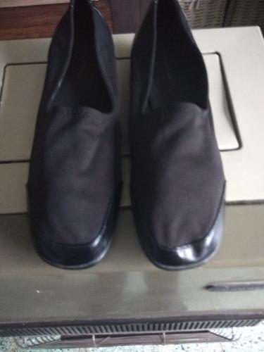 zapatos largo de suela 28, capellada en tela