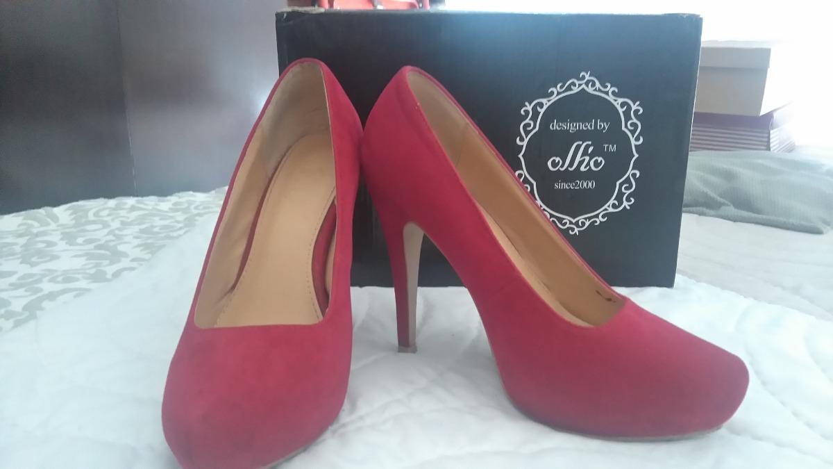 7fb3e24d Zapatos Rojos Con Plataforma - $ 1.200,00 en Mercado Libre