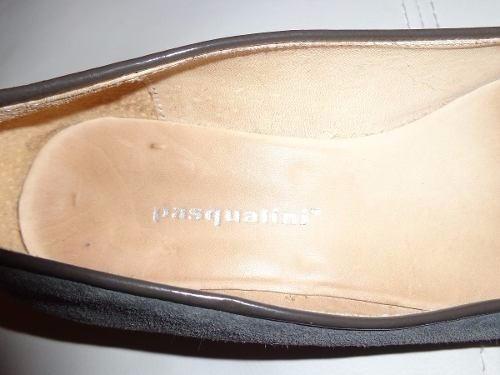 zapatos taco bajo  chatitas pascualini talle 38/39