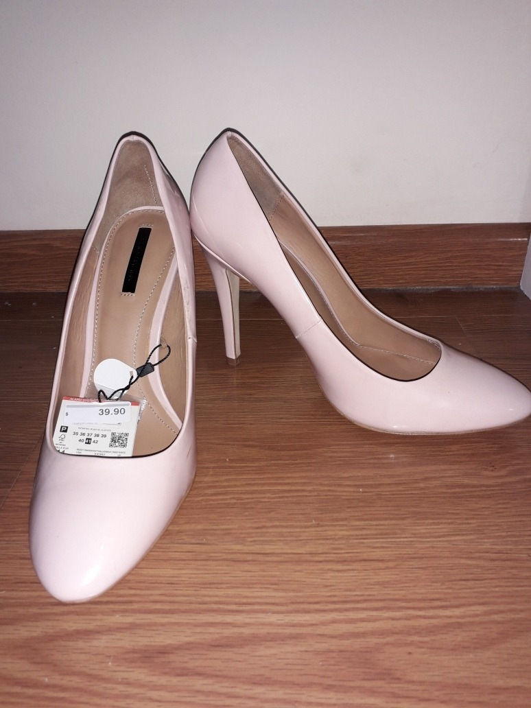 Rosados Zapatos Zara Taclo Alto Charol Tpkzoixu sdCtxhQr