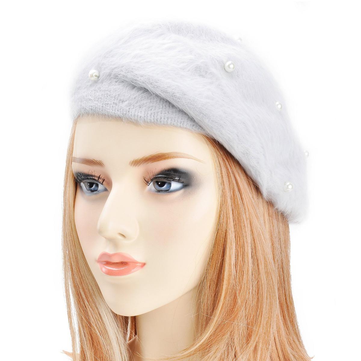 zlyc las mujeres conejo sombrero de la boina francesa con. Cargando zoom. 7f1fcadd40d